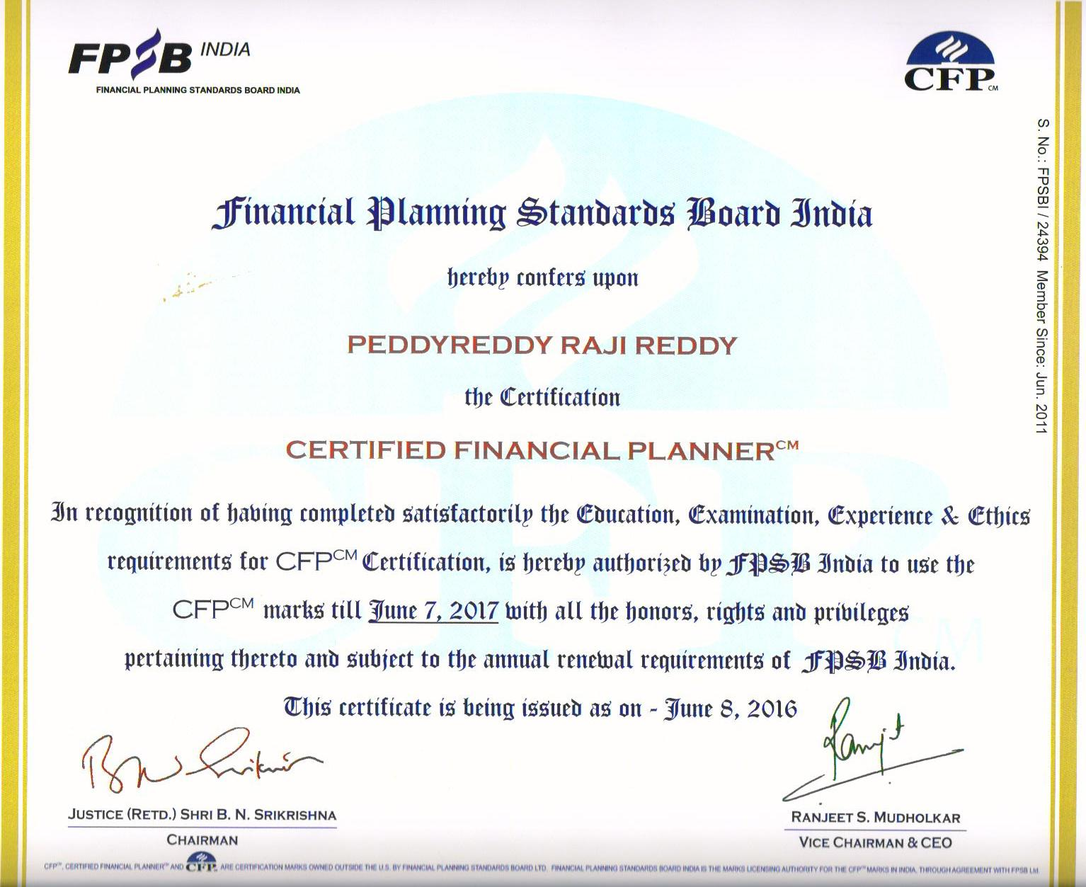 Crvj Investment Consultants Limited Certified Financial Planners